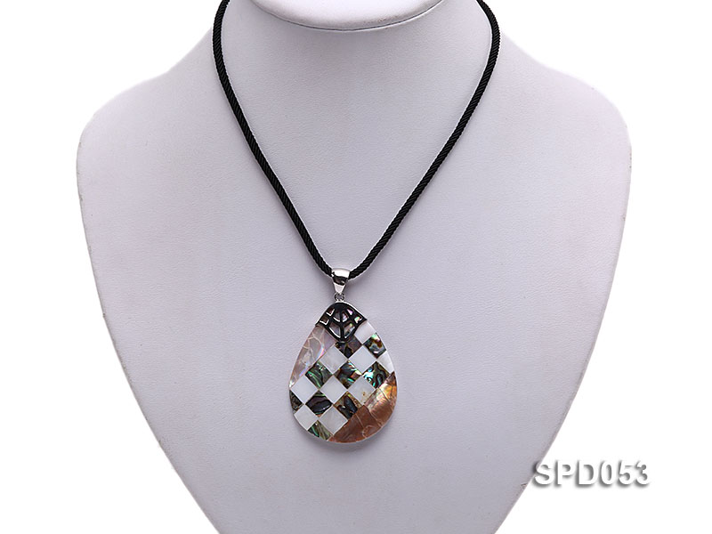 34x50mm Drop-shaped Black Shell Pendant big Image 5