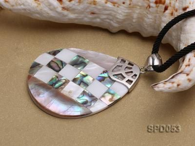 34x50mm Drop-shaped Black Shell Pendant SPD053 Image 3