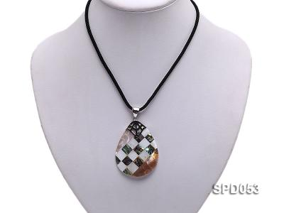 34x50mm Drop-shaped Black Shell Pendant SPD053 Image 5