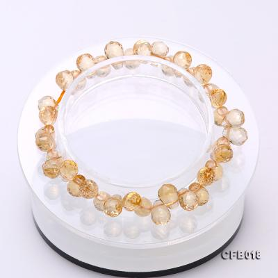 7x9.5mm Drop-shaped Faceted Citrine Easticated Bracelet CFB018 Image 2