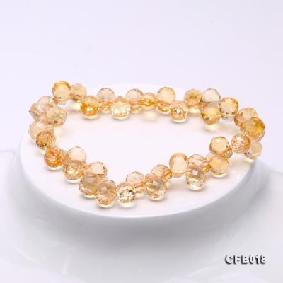 7x9.5mm Drop-shaped Faceted Citrine Easticated Bracelet CFB018 Image 4