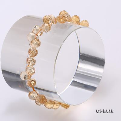 7x9.5mm Drop-shaped Faceted Citrine Easticated Bracelet CFB018 Image 5