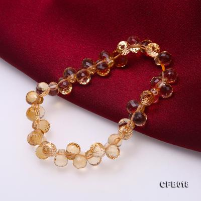 7x9.5mm Drop-shaped Faceted Citrine Easticated Bracelet CFB018 Image 6