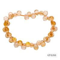 7x9.5mm Drop-shaped Faceted Citrine Easticated Bracelet CFB018