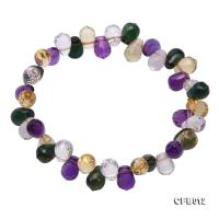 6x8mm Colorful Drop-shaped Faceted Crystal Bracelet CFB012