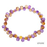 5x7.5mm Yellow and Purple Faceted Crystal Bracelet CFB015