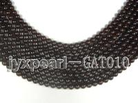 wholesale 5.9mm round dark red garnet strings GAT010