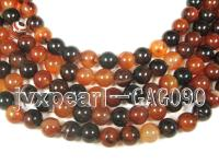 wholesale 12mm round red agate strings GAG090