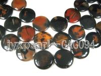 wholesale 50mm round agate pieces strings GAG094