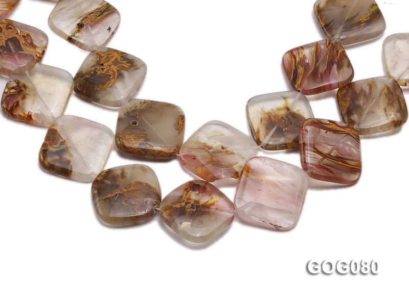 Wholesale 30mm Square Semiprecious Stone String big Image 1