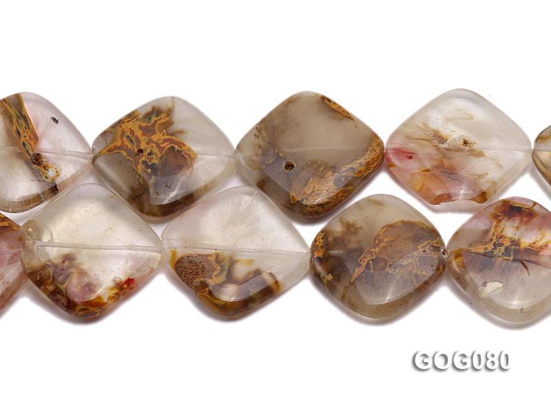 Wholesale 30mm Square Semiprecious Stone String big Image 2
