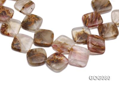 Wholesale 30mm Square Semiprecious Stone String GOG080 Image 1