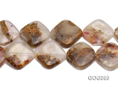 Wholesale 30mm Square Semiprecious Stone String GOG080 Image 2