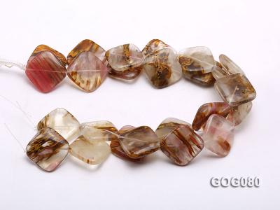 Wholesale 30mm Square Semiprecious Stone String GOG080 Image 3