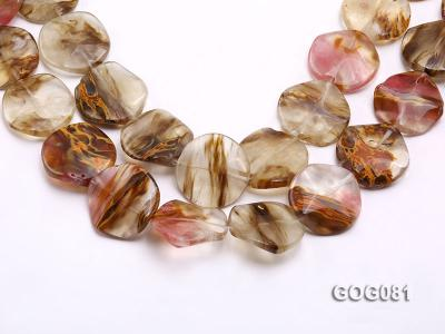 Wholesale 30mm Disc-shaped Semiprecious Stone String GOG081 Image 1
