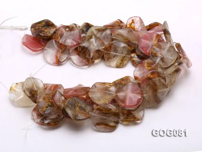 Wholesale 30mm Disc-shaped Semiprecious Stone String GOG081 Image 3