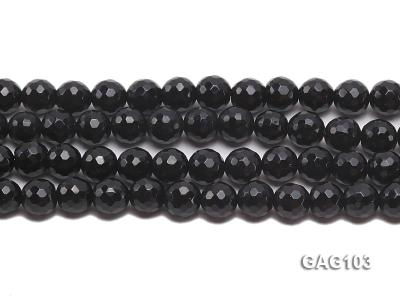 wholesale 7.5mm round black agate strings GAG103 Image 2