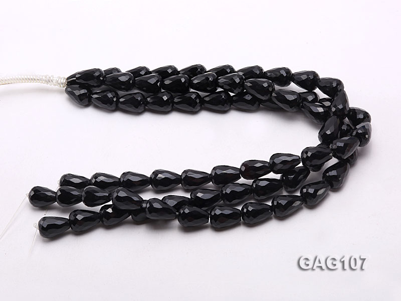 wholesale 17x12mm oval black agate strings big Image 3
