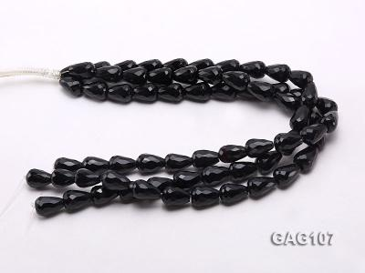 wholesale 17x12mm oval black agate strings GAG107 Image 3