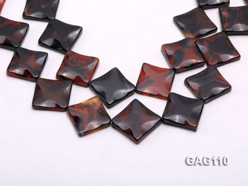 wholesale 25mm square agate pieces strings big Image 1