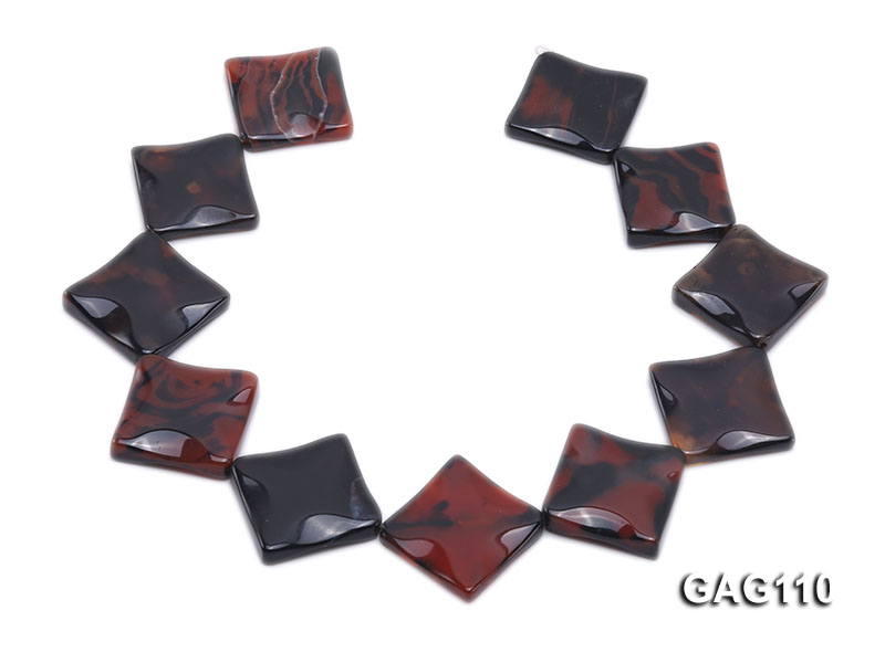 wholesale 25mm square agate pieces strings big Image 4