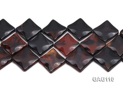 wholesale 25mm square agate pieces strings GAG110 Image 2