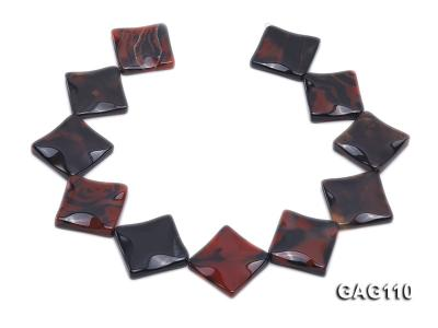 wholesale 25mm square agate pieces strings GAG110 Image 4
