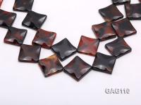 wholesale 25mm square agate pieces strings GAG110