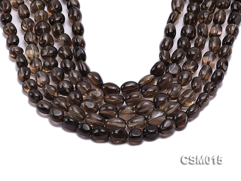 Wholesale 10x12mm Oval Smoky Quartz Beads String big Image 1