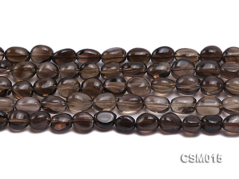 Wholesale 10x12mm Oval Smoky Quartz Beads String big Image 2