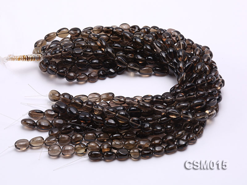 Wholesale 10x12mm Oval Smoky Quartz Beads String big Image 3