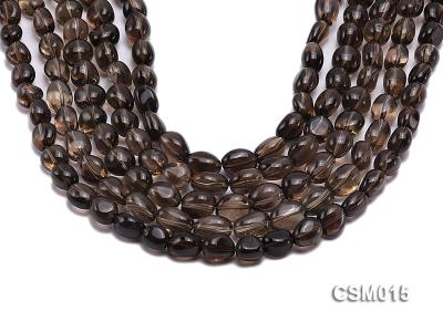 Wholesale 10x12mm Oval Smoky Quartz Beads String CSM015 Image 1