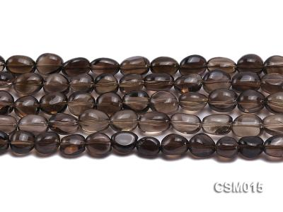 Wholesale 10x12mm Oval Smoky Quartz Beads String CSM015 Image 2