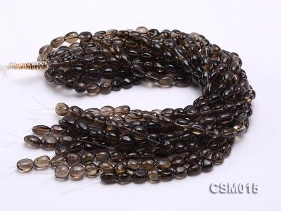 Wholesale 10x12mm Oval Smoky Quartz Beads String CSM015 Image 3