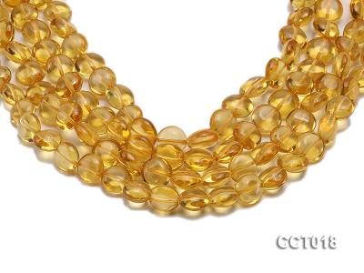 Wholesale 11.5mm Button-shaped Translucent Citrine Beads String CCT018 Image 1
