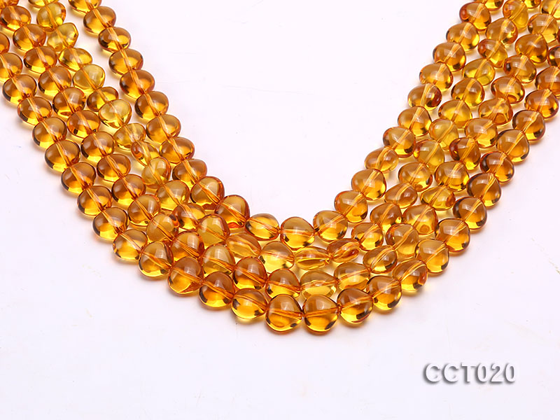 Wholesale 10mm Heart-shaped Citrine Beads String big Image 1