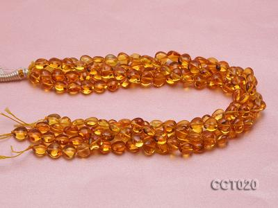 Wholesale 10mm Heart-shaped Citrine Beads String CCT020 Image 3