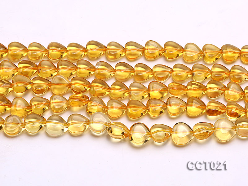 Wholesale 10mm Heart-shaped Citrine Beads String big Image 2