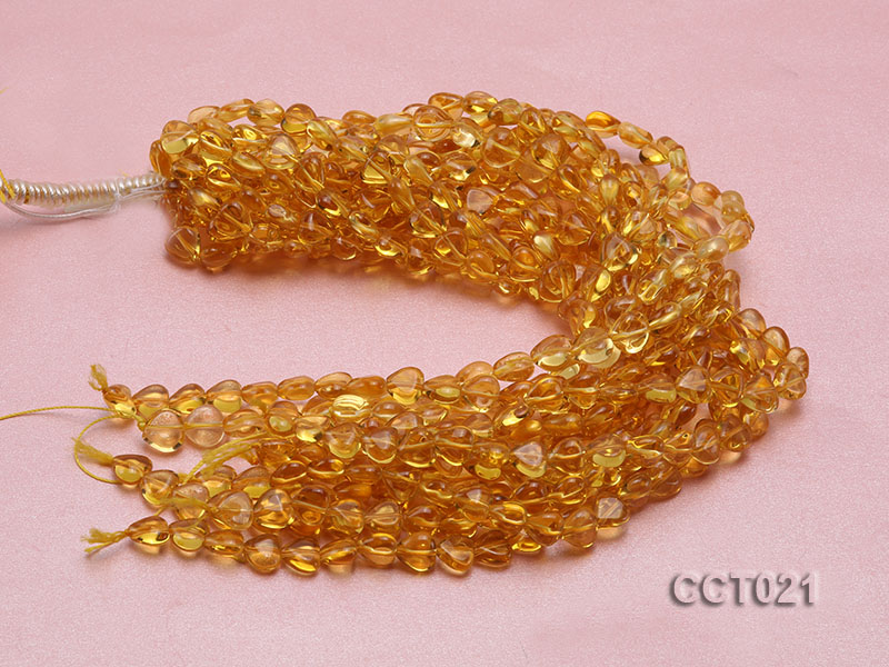 Wholesale 10mm Heart-shaped Citrine Beads String big Image 3