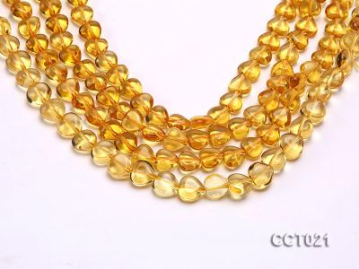Wholesale 10mm Heart-shaped Citrine Beads String CCT021 Image 1