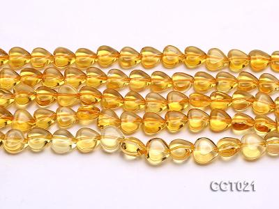 Wholesale 10mm Heart-shaped Citrine Beads String CCT021 Image 2