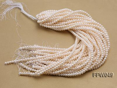 Wholesale 6x7.5mm white Flat Freshwater Pearl String FPW049 Image 4