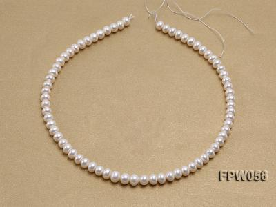 Wholesale 6x8mm Classic White Flat Cultured Freshwater Pearl String FPW056 Image 3
