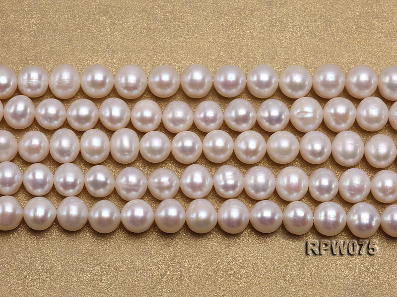 Wholesale 7-7.5mm Classic White Round Freshwater Pearl String big Image 2