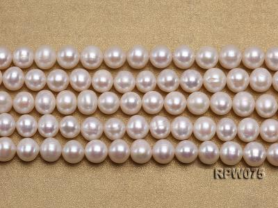 Wholesale 7-7.5mm Classic White Round Freshwater Pearl String RPW075 Image 2