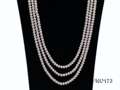 5-8mm white and black flat freshwater pearl multi-strand opera necklace FNO173 Image 2