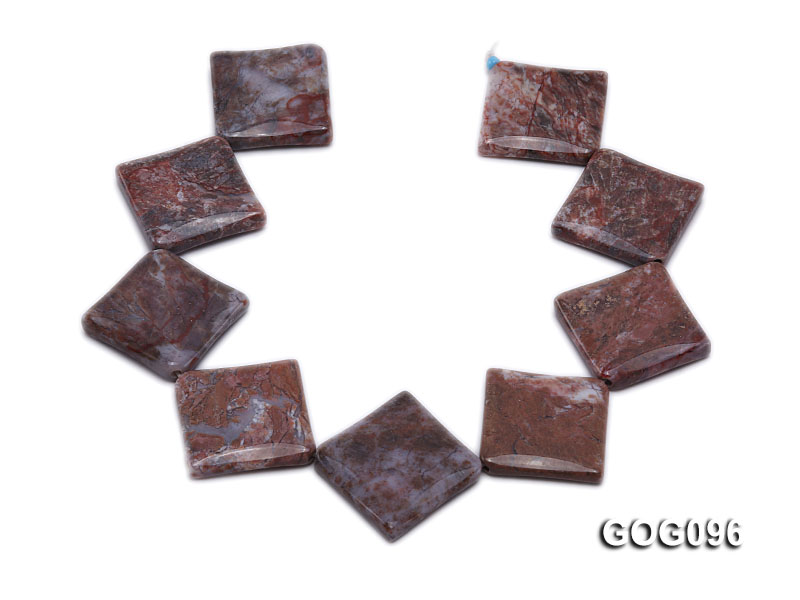 Wholesale 30mm Square Gemstone String big Image 4