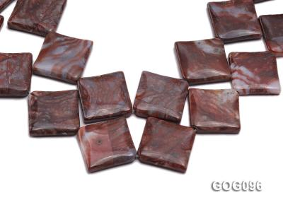 Wholesale 30mm Square Gemstone String GOG096 Image 1