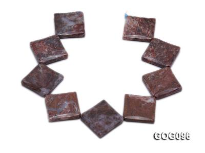 Wholesale 30mm Square Gemstone String GOG096 Image 4