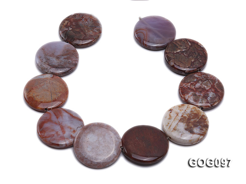 Wholesale 35mm Disc-shaped Gemstone String big Image 4